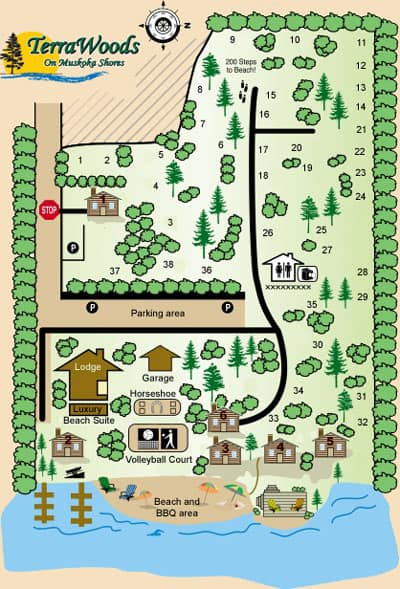 Muskoka Cottage Resort Map
